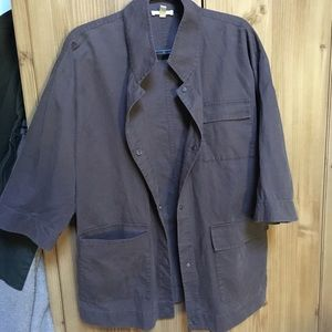 Eileen Fisher 3/4 sleeve chore coat size Small